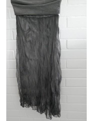 Damen Tüll Rock Kleid Ibiza Look grau grey Onesize ca. 36 - 42 Blogger Style