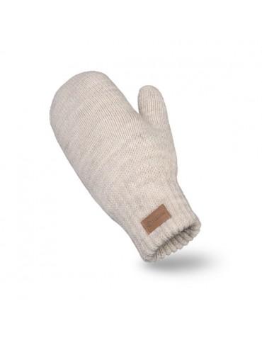 PaMaMi Damen Handschuhe Fäustlinge sand beige 17222