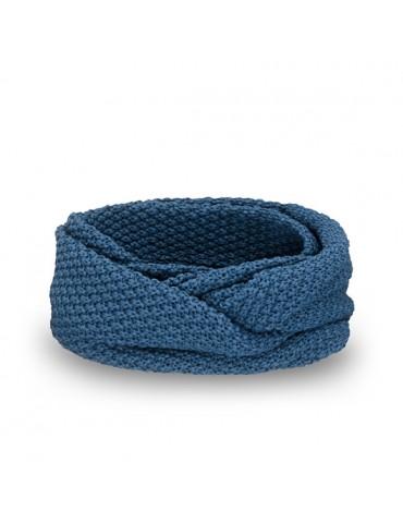 PaMaMi Men Man Herren Loop Schal Tuch jeansblau blau 18029