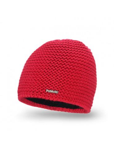 PaMaMi Damen Strick Mütze Beanie rot red feuerrot 18500