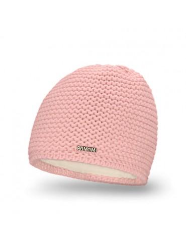 PaMaMi Damen Strick Mütze Beanie rose rosa 18500