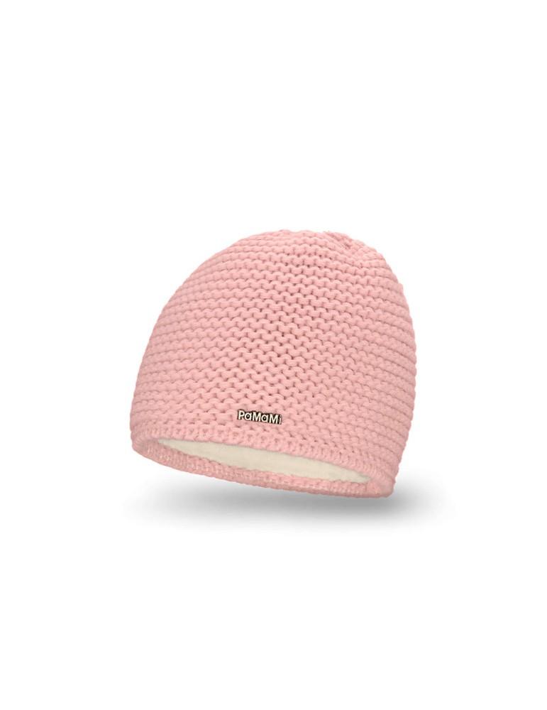 b12137338be PaMaMi Damen Strick Mütze Beanie rose rosa 18500