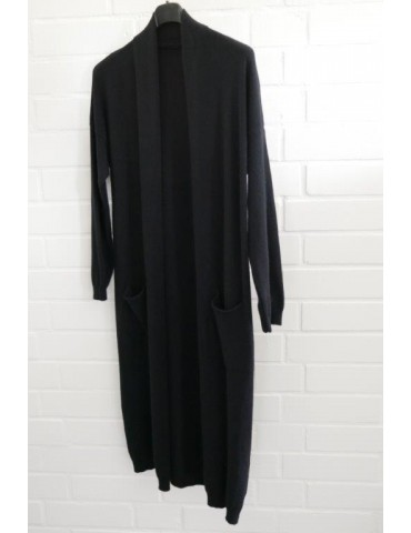 Damen Strick Jacke schwarz black Onesize ca. 36 - 42 mit Viskose