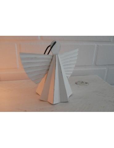Metall Engel Schutzengel weiß white Weihnachtsdeko Adventszeit