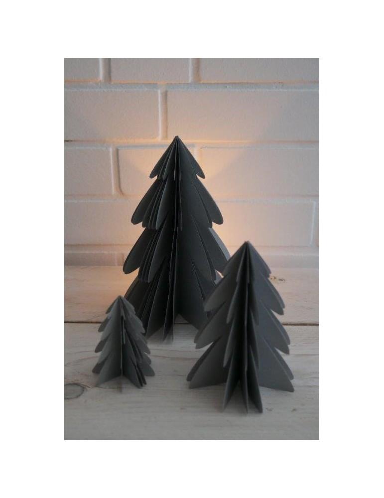 Deko Papier Weihnachtsbaum mittel silber Adventszeit
