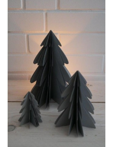 Deko Papier Weihnachtsbaum groß silber Adventszeit