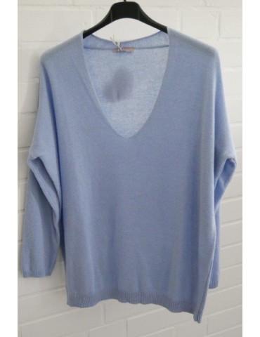 ESViViD Oversize Strick Pullover hellblau blau Onesize ca. 38 - 44 mit Kaschmir