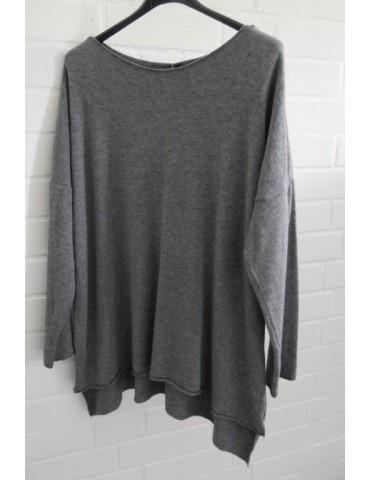 Damen Oversize Pullover grau Onesize ca. 38 - 44