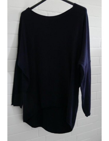 Damen Oversize Pullover dunkelblau blau marine angerundet Onesize ca. 38 - 44