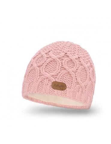 PaMaMi Mädchen Mütze Kinder Girl Kids rose rosa Fleece 18228