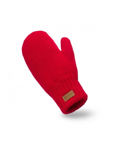 PaMaMi Damen Handschuhe Fäustlinge rot red 17222
