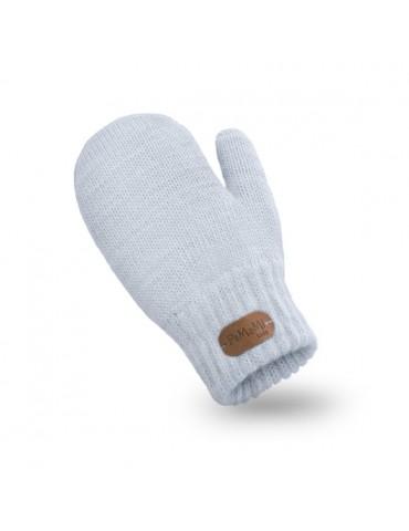 PaMaMi Kinder Fäustlinge Handschuhe hellblau blau ice blue uni 17221