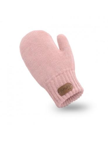 PaMaMi Kinder Fäustlinge Handschuhe rose rosa pink uni 17221