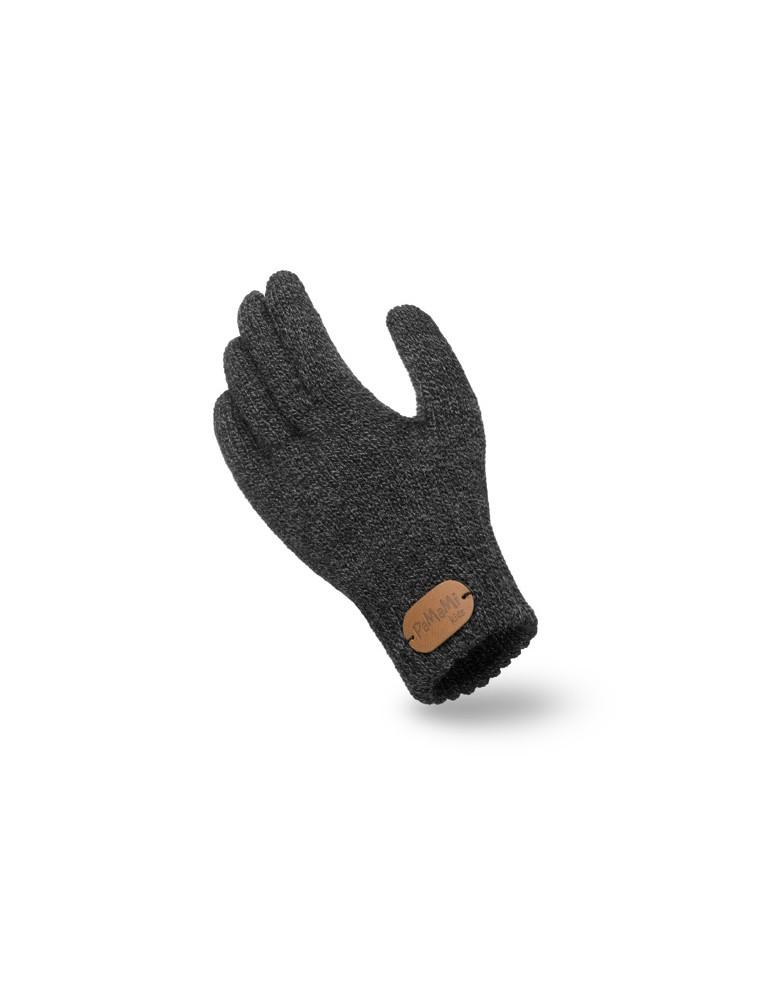 PaMaMi Kinder Fingerhandschuhe Handschuhe anthrazit grau meliert 18227