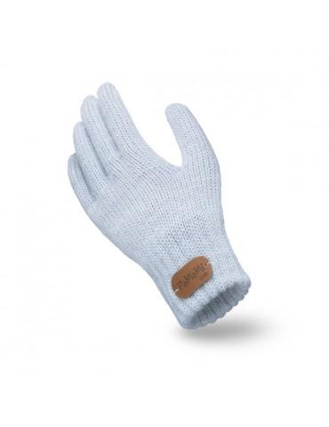 PaMaMi Kinder Fingerhandschuhe Handschuhe hellblau blau uni 18227