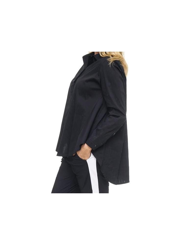 ESViViD Damen Bluse schwarz uni A-Form Gr. L 40 42 8715