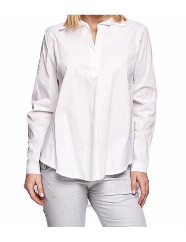 ESViViD Damen Bluse weiß white uni A-Form 8715 Gr. XL