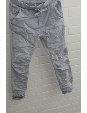 copy of Melly & Co Jeans Hose Jogging Jog Pants hellblau blau Ibiza 8139