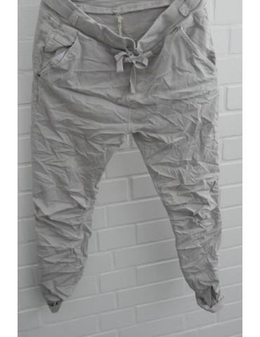 Melly & Co Jeans Hose Jogging Jog Pants hellgrau grau Ibiza 8139