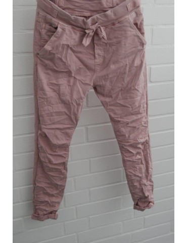 Melly & Co Bequeme Jeans Hose Jogging Jog Pants rose rosa Ibiza 8139