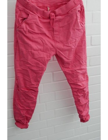 Melly & Co Jeans Hose Jogging Jog Pants rot verwaschen pink Ibiza 8139