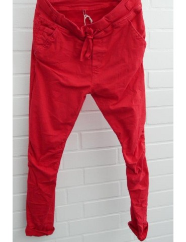 Melly & Co Jeans Hose Jogging Jog Pants rot red Ibiza 8139