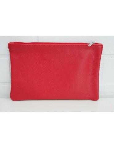 Kosmetiktasche Portemonnaie Geld Tasche Bag in Bag rot red Echtes Leder