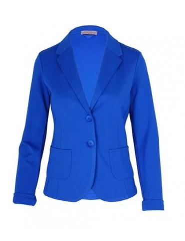 Esvivid Bequemer Sportlicher Jersey Blazer tailliert royalblau blau uni