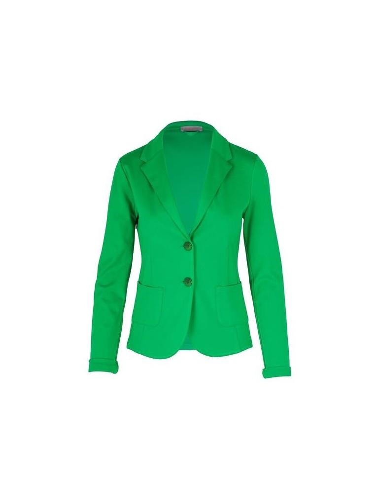 Esvivid Bequemer Sportlicher Jersey Blazer tailliert grasgrün grün uni