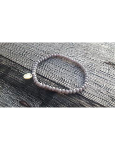 Armband Kristallarmband Perlen hellgrau klein Glitzer Schimmer elastisch