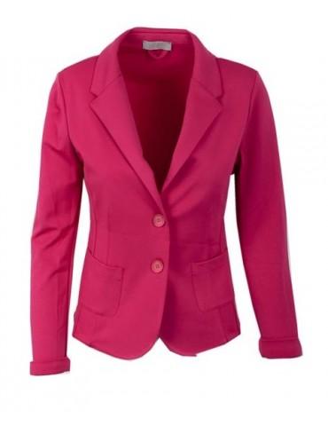 Esvivid Bequemer Sportlicher Jersey Blazer tailliert pink uni