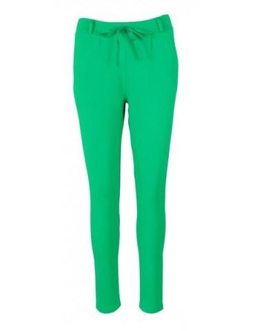 Esvivid Coole Sportliche Jersey Hose Chino smaragd grün uni 9051