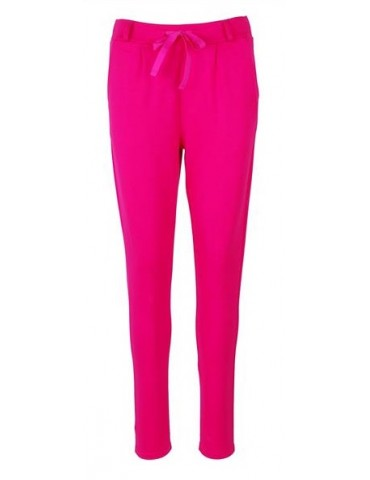 ESViViD Bequeme Coole Sportliche Jersey Hose Chino pink uni 9051