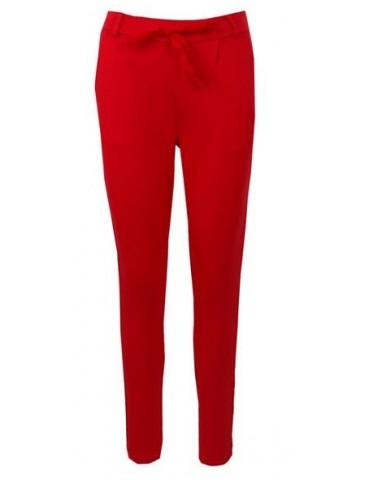 ESViViD Bequeme Coole Sportliche Jersey Hose Chino rot red uni 9051