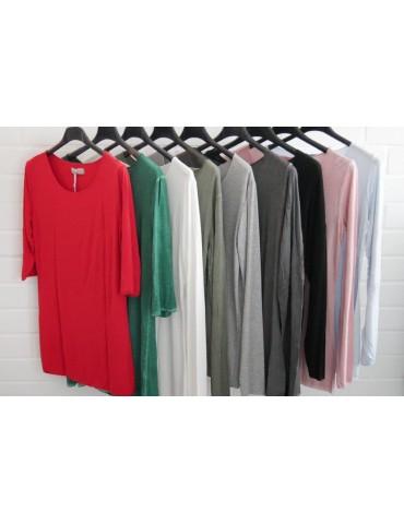 ESViViD Damen Basic Shirt 3/4 Ärmel rot red mit...