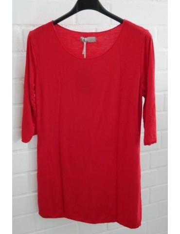 ESViViD Damen Basic Shirt 3/4 Ärmel rot red mit Viskose