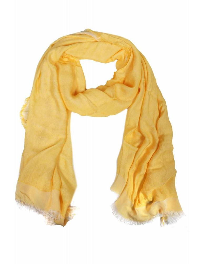 Schal Tuch gelb yellow Leinenoptik Viskose Blogger Style
