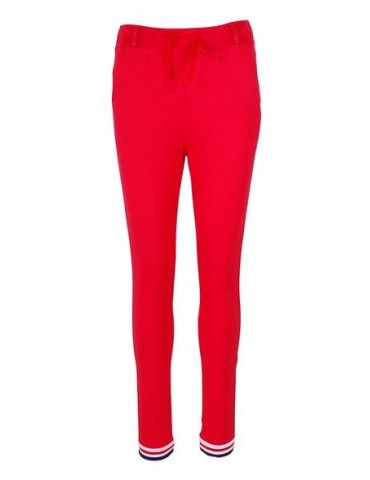 Esvivid Coole Sportliche Jersey Hose Chino rot weiß dunkelblau Bündchen 9033 9051