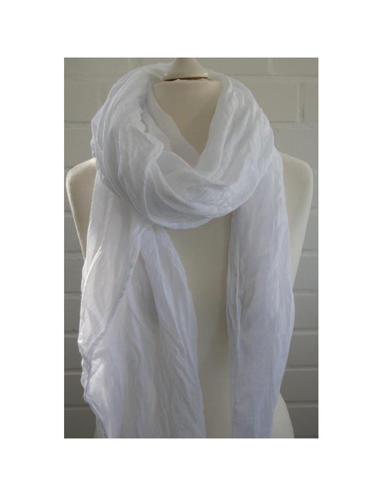 XXL Schal Tuch weiß white 100% Baumwolle Asymmetrisch Blogger Style
