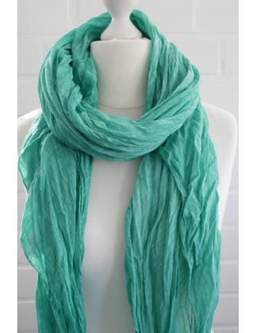 XXL Schal Tuch grün verwaschen 100% Baumwolle Asymmetrisch Blogger Style
