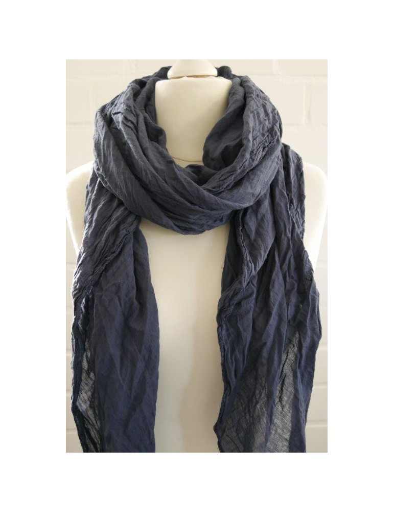 XXL Schal Tuch dunkelblau  marine100% Baumwolle Asymmetrisch Blogger Style