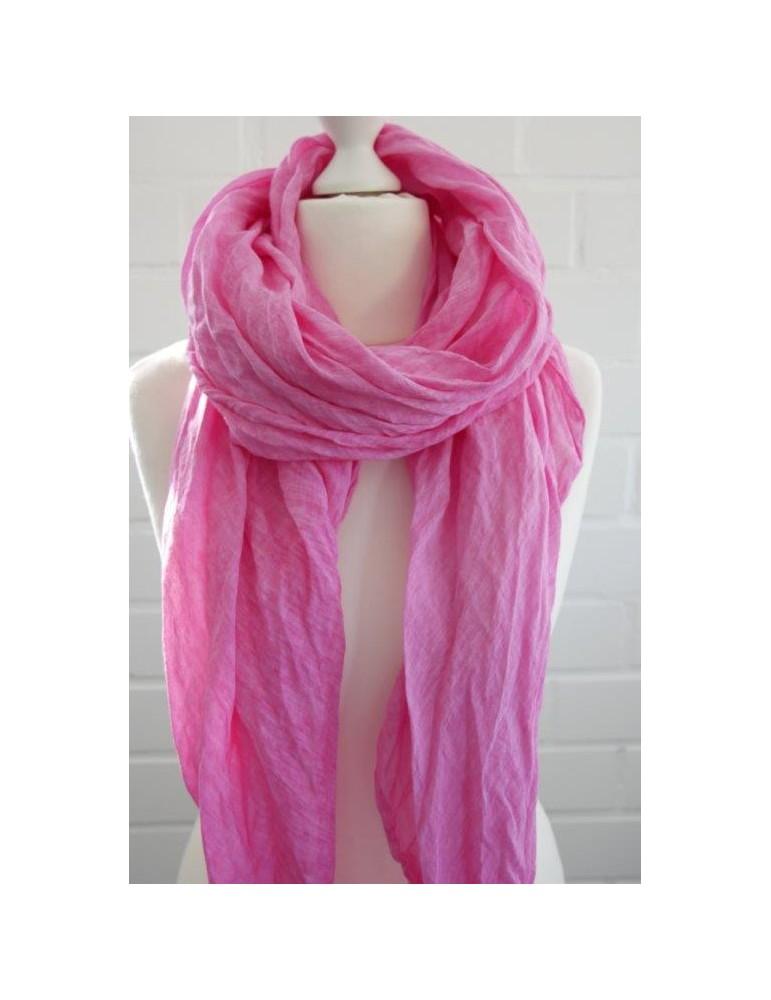 XXL Schal Tuch pink rose rosa 100% Baumwolle Asymmetrisch Blogger Style