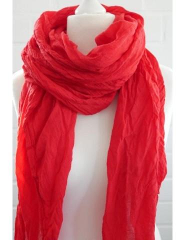 XXL Schal Tuch rot red 100% Baumwolle Asymmetrisch Blogger Style