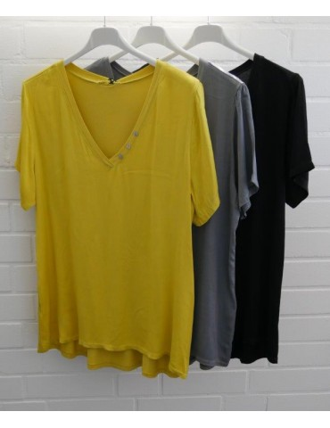 Damen Shirt kurzarm gelb...