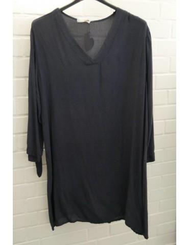Damen Tunika Kleid dunkelblau marine Viskose Onesize ca. 38 - 42 Made in Italy