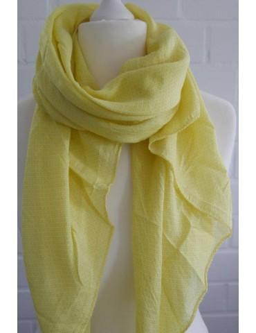 Schal Tuch Loop Made in Italy Seide Baumwolle gelb Kreuze in sich