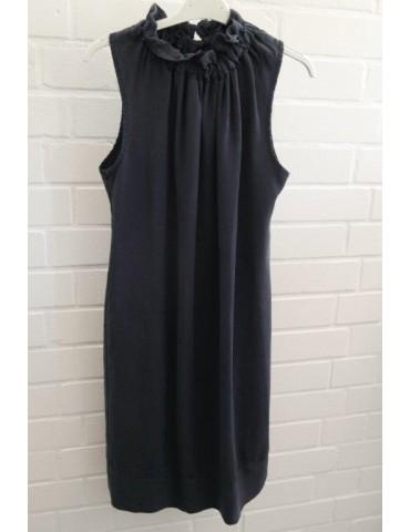 Damen Tunika Kleid dunkelblau marine Lyocell Onesize 36 - 40