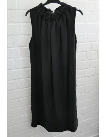Damen Tunika Kleid schwarz black Lyocell Onesize 36 - 40