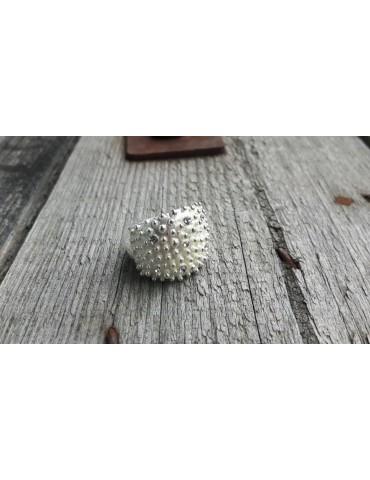 Giuno Ring Damenring Metall silber Gummizug QNR0381