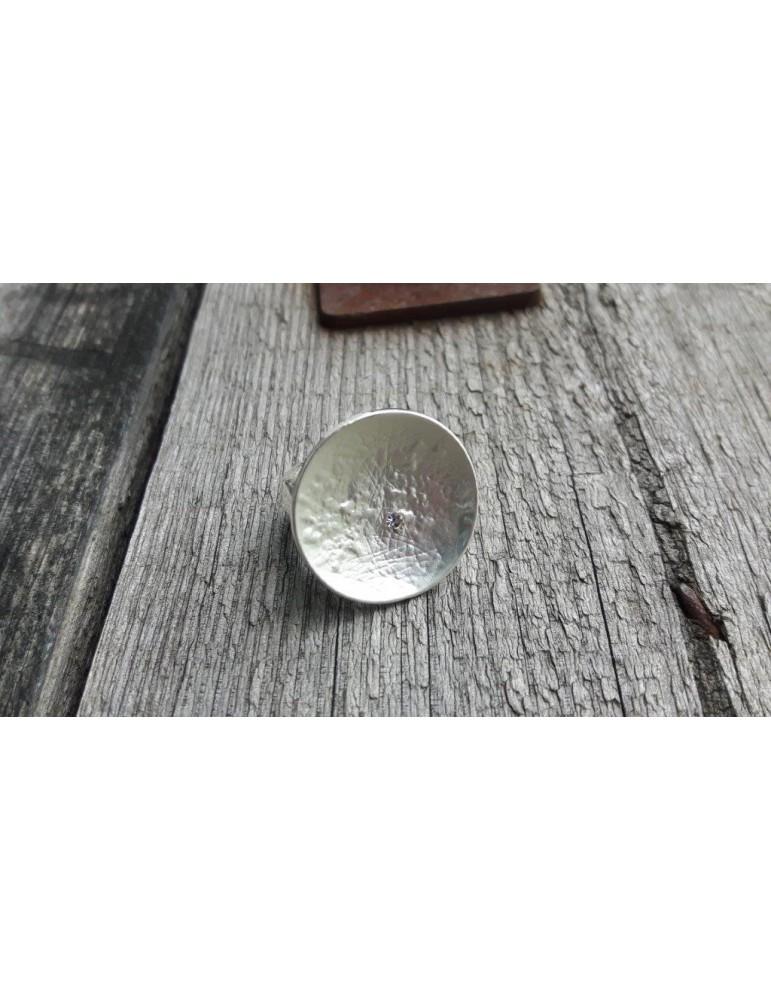 Giuno Ring Damenring Metall Strass silber Gummizug FQR0310